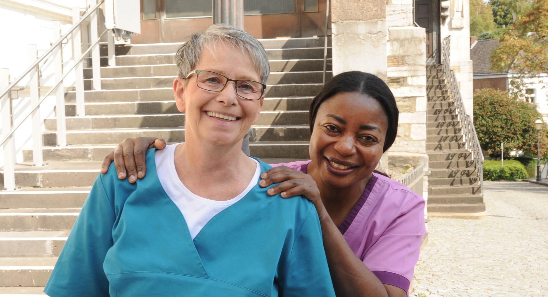 Roswitha Bruhnke & Georgine Lukombo